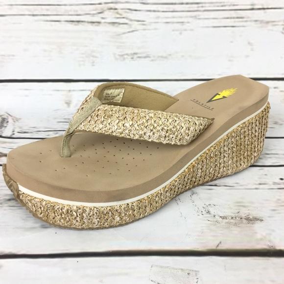 e3bab58238 Volatile Thong Sandal Wedge Flip Flop comfort. M 5a83a9e8b7f72b58e5ffd919